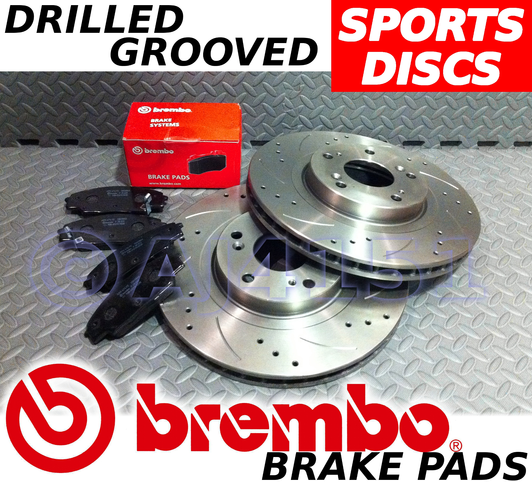 Drilled /& Grooved FRONT Brake Discs VAUXHALL ASTRA H Sport Hatch 2.0 T 2005-On