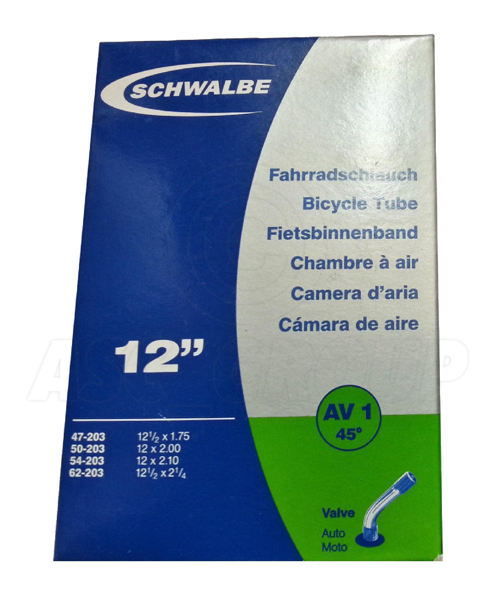 Schwalbe 12.5 x 1.75-2.25 AV1 Schrader Valve Inner Tube