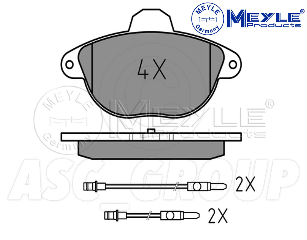 Meyle Brake Pad Set Front Axle With anti-squeak plate 025 231 3119//W
