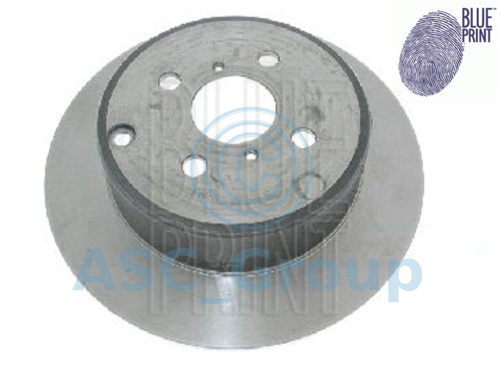 of Holes 5 rear 2 Brake Disc Blue Print ADG04345 Brake Disc Set full No