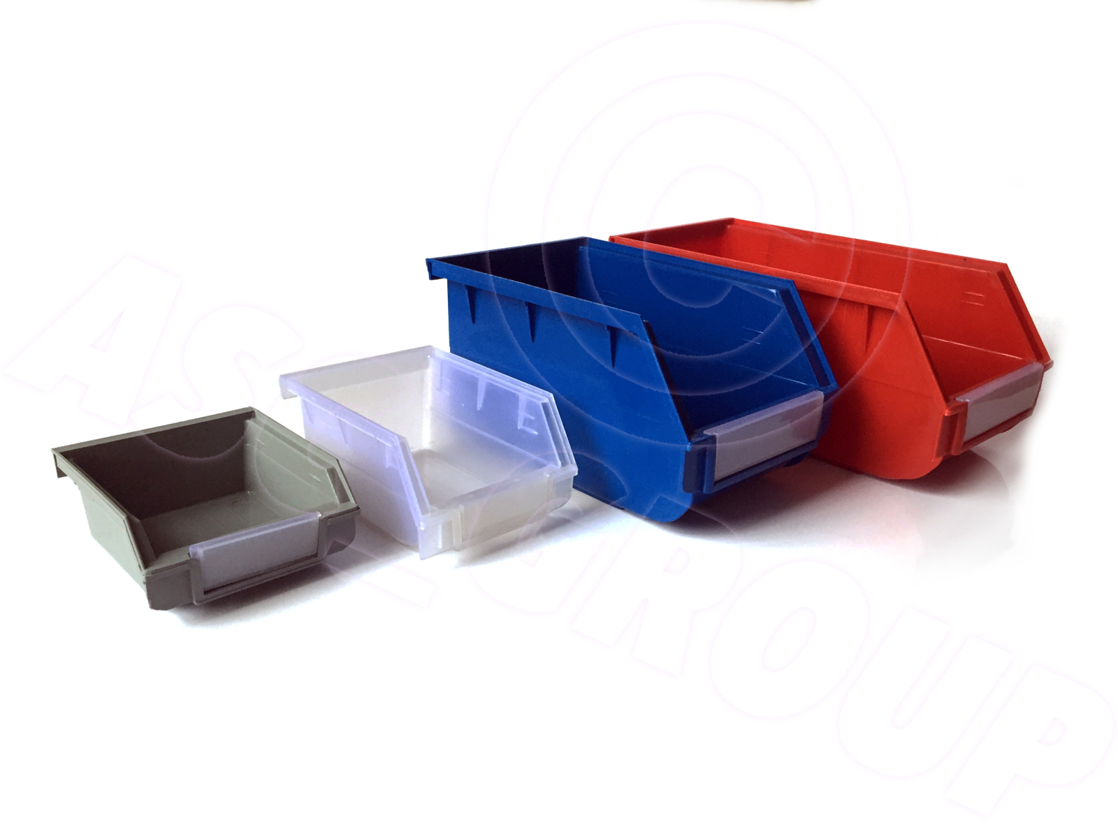 wall mount or stackable storage parts bins boxes - Stackable Storage Bins