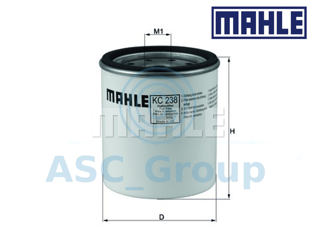 Mahle Fuel Filter KC238D for Jeep Cherokee for OE 52128698AA K04723905