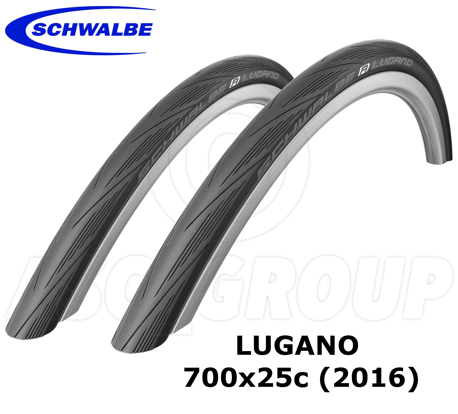 Schwalbe Lugano 700x25C (25-622) Racing/Road Bike (2 Tyres ...