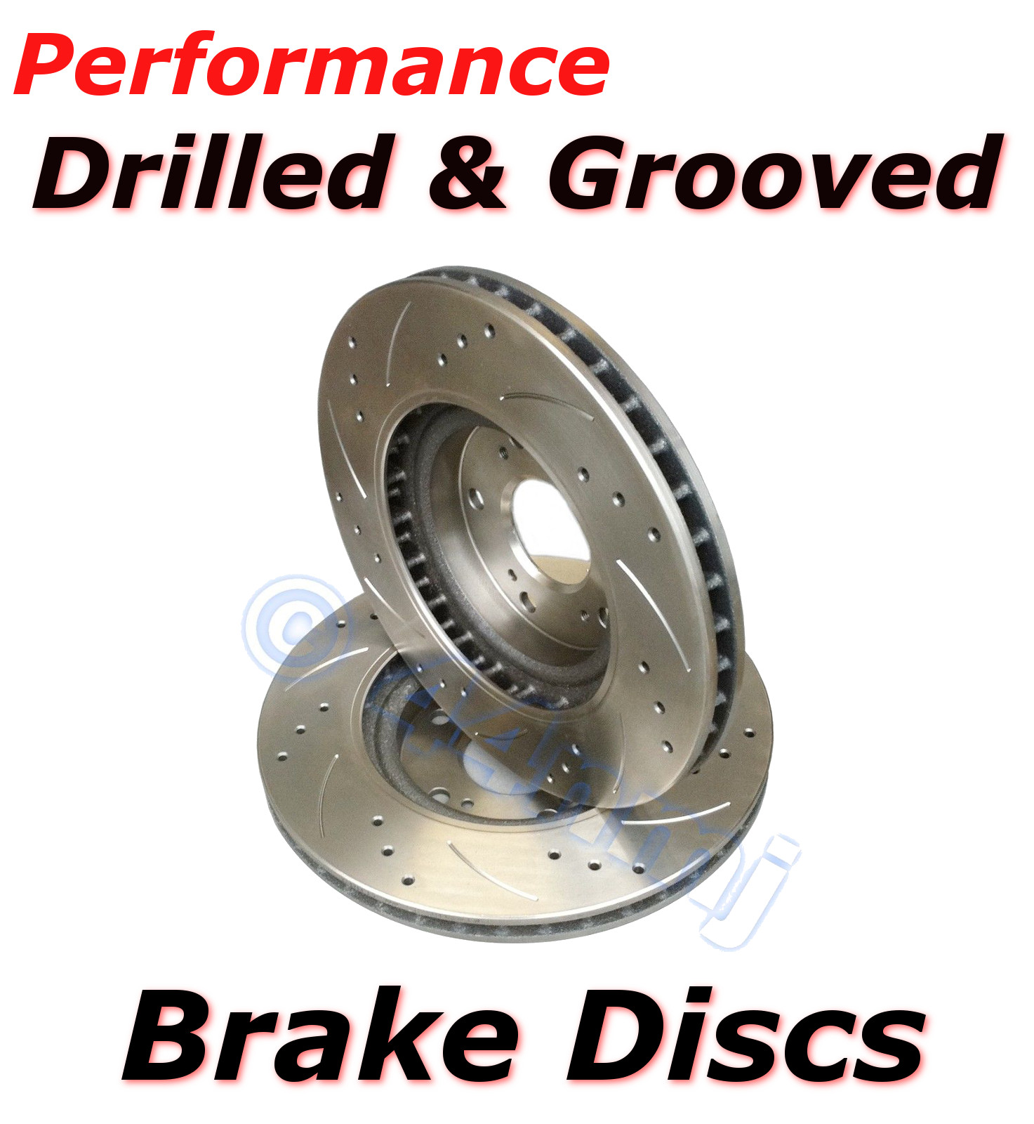 FORD FOCUS RS mk1 2002-2004 2.0 Drilled /& Grooved Brake Discs /& BREMBO Pads REAR