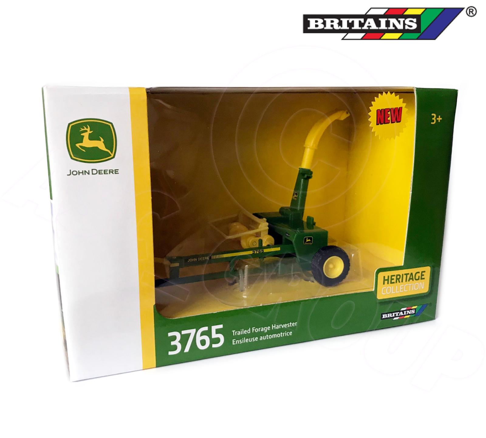 BRITAINS John Deere Trailed Forage Harvester 1:32 Diecast Farm Vehicle 43152A1