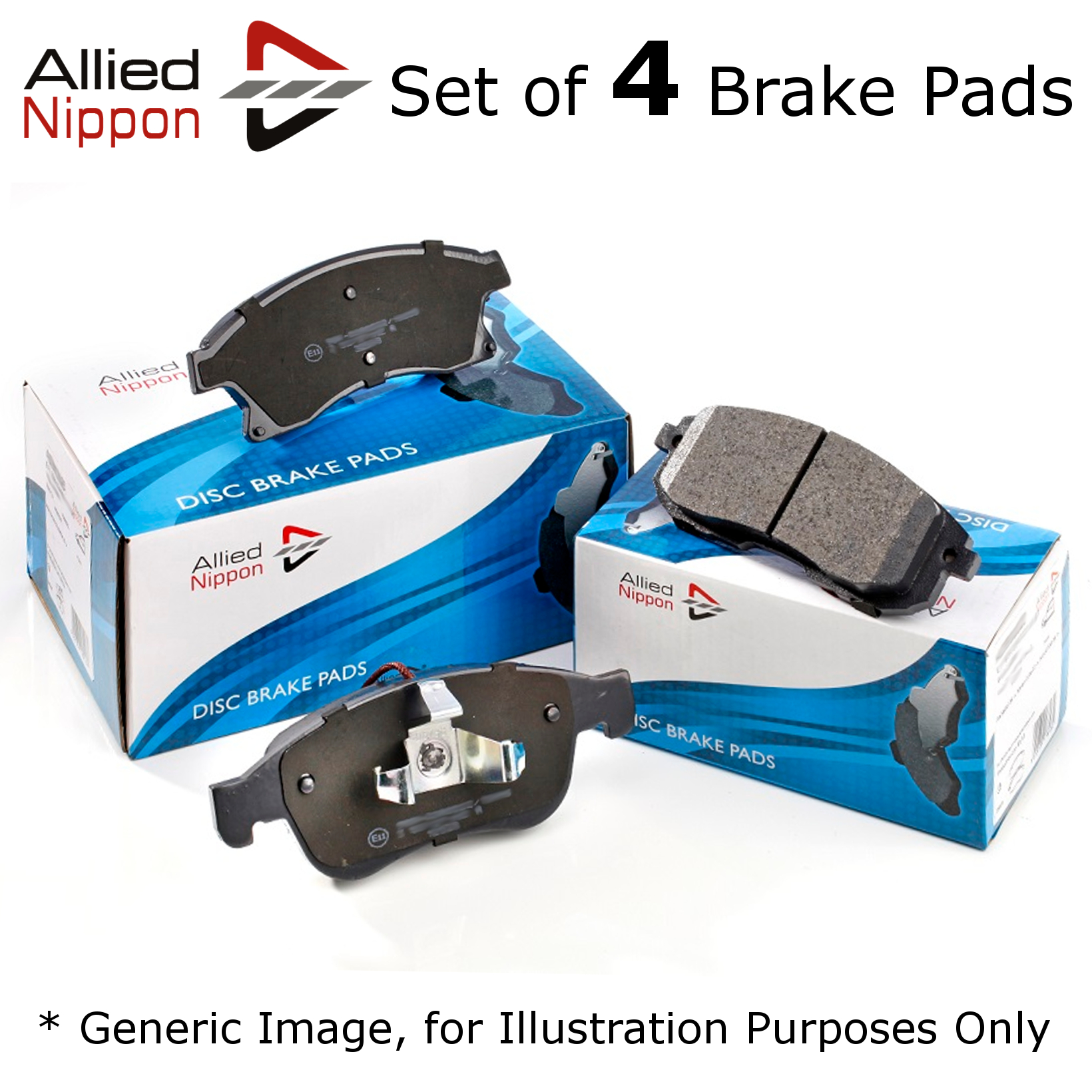 Mercedes S-Class W220 S 320 Genuine Allied Nippon Front Brake Pads Set
