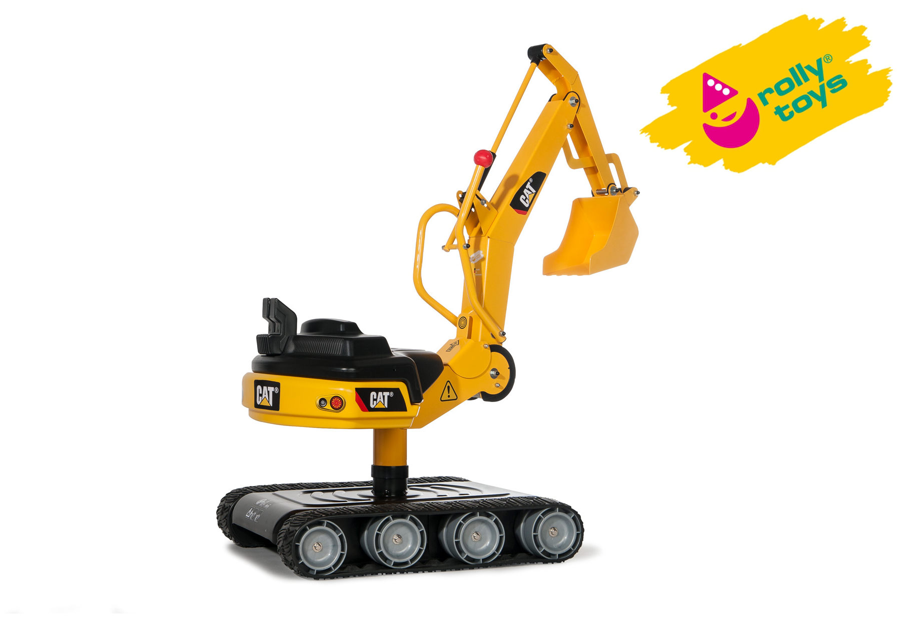 Excavatrice pour chats avec corps en métal Rolly Toys sur bras de travail à 360 ° en rotation, âge 3-8