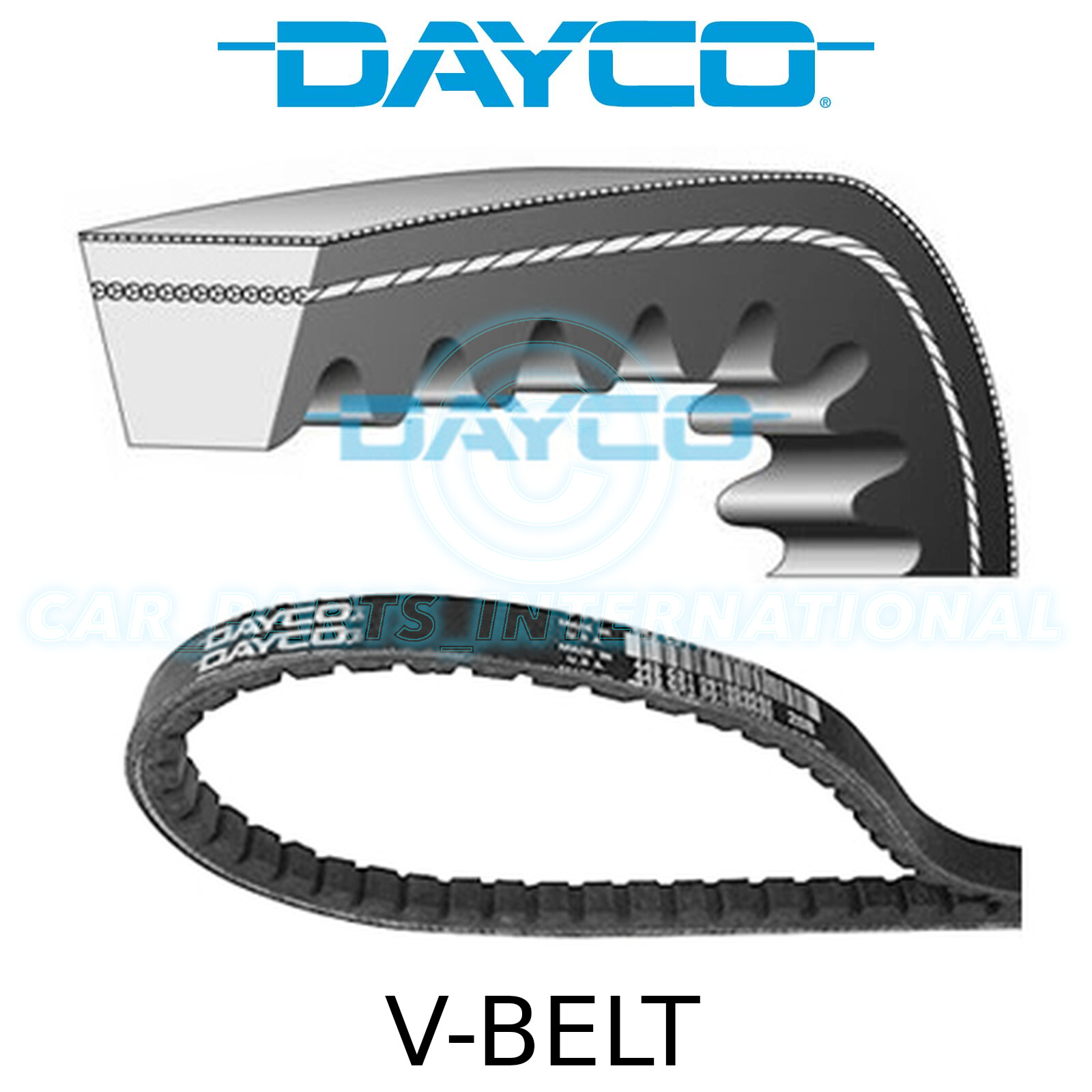 Nouvelle marque dayco V-Belt 10mm x 990mm 10a0990c Auxiliaire Alternateur Ventilateur