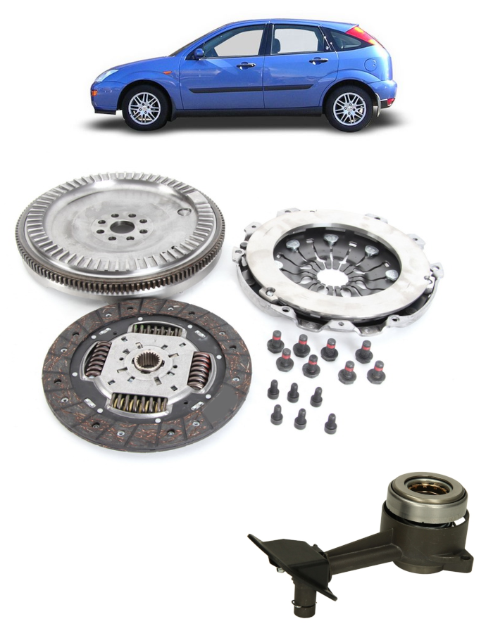 Clutch + Solid Flywheel Conversion Kit - fits Ford Focus, T.Connect 1.8D + CSC