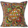 "Large Black Colorful Decorative Sofa Throw Pillow Couch Cushion Cover Indian Colorful Decorative - 24"" 1"