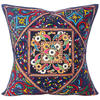 """Large Blue Throw Pillow Couch Sofa Cushion Cover Indian Boho Bohemian Colorful Decorative - 24"""" 1"""