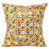 "White Patchwork Colorful Decorative Couch Sofa Throw Pillow Cushion Cover Bohemian Indian Decor - 24"" 1"