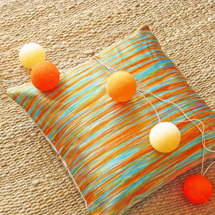 Embroidered Colorful Decorative Throw Pillow Couch Sofa Cushion Cover - 16""