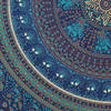 Large Queen Blue Indian Mandala Elephant Bedspread Beach Tapestry Blanket Dorm B 5