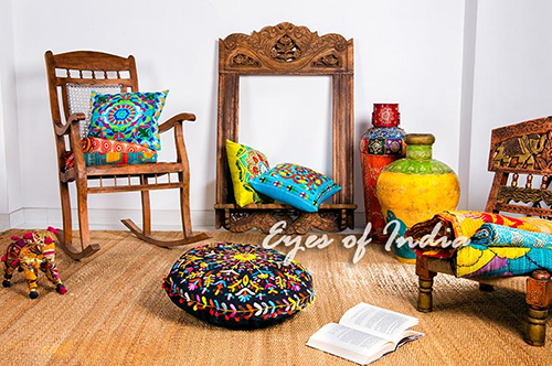 Boho Floor Cushions & Poufs: Add Style & Comfort into your home