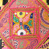 Pink Rajkoti Patchwork Bohemian Throw Pillow Boho Couch Sofa Cushion Cover - 16""
