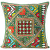 """Green Rajkoti Patchwork Colorful Decorative Bohemian Couch Pillow Cushion Sofa Throw Cover - 16"""" 1"""