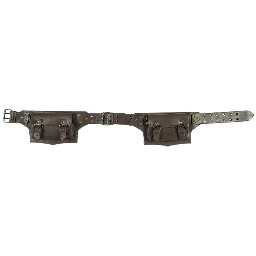 thumbnail 7 - Black Brown Leather Belt Bum Waist Hip Bag Pouch Fanny Pack Utility Pocket Trave