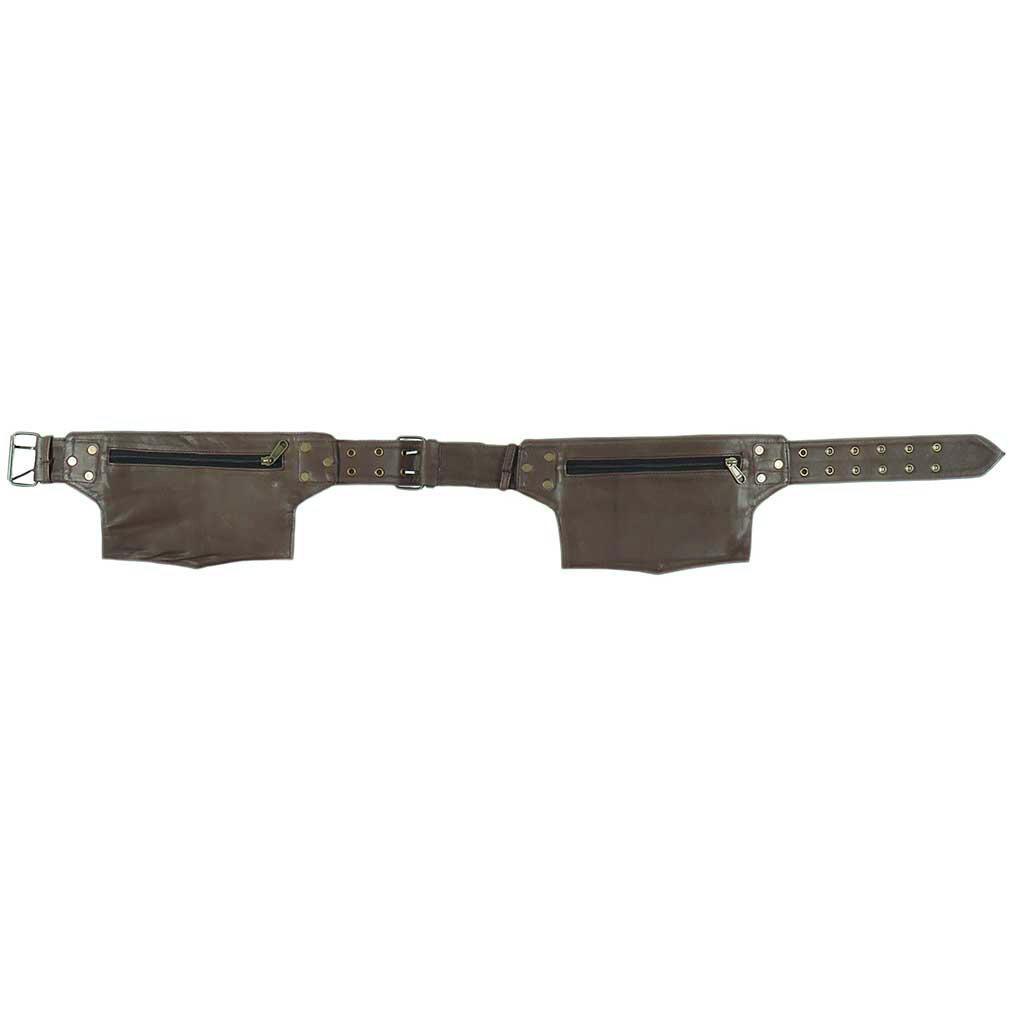 thumbnail 9 - Black Brown Leather Belt Bum Waist Hip Bag Pouch Fanny Pack Utility Pocket Trave