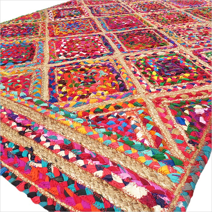 Stunning Jute Rug Hand Crafted In India Jute Rugs