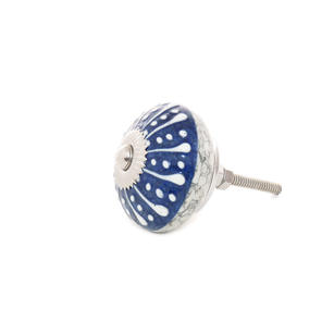 Blue Ceramic Dresser Cabinet Cupboard Door Knobs Pulls Shabby Chic