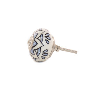 Blue White Peach Ceramic Dresser Cabinet Cupboard Door Knobs Pulls Shabby Chic Decorative Colorful Boho Bohemian