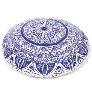 Mandala Hippie Round Colorful Floor Seating Meditation Pillow Cushion Cover - 32""