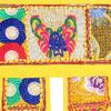 "Yellow Boho Patchwork Window Door Toran Bohemian Valance Hanging Tapestry - 78"" 4"
