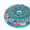 """Teal Blue Green Pink Round Decorative Colorful Floor Cushion Meditation Pillow Seating Throw Cover - 24"""" 2"""