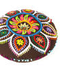 """Brown Boho Embroidered Decorative Seating Bohemian Round Floor Pillow Meditation Cushion Pouf Cover - 24"""" 2"""