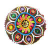 """Brown Boho Embroidered Decorative Seating Bohemian Round Floor Pillow Meditation Cushion Pouf Cover - 24"""" 3"""
