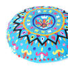 "Blue Decorative Round Floor Pillow Cushion Cover Seating Meditation Throw Indian Bohemian Boho - 24"" 1"