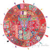 Red Round Patchwork Boho Bohemian Throw Colorful Floor Seating Meditation Pillow Cushion Cover - 40""