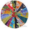 "Colorful Bohemian Kantha Round Decorative Seating Boho Floor Meditation Pillow Cushion Cover - 17"""