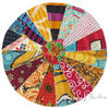 Colorful Vintage Kantha Round Decorative Seating Boho Floor Meditation Pillow Cushion Cover - 17""