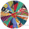 Colorful Bohemian Kantha Round Decorative Seating Boho Floor Meditation Pillow Cushion Cover - 17""