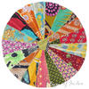 "Round Bohemian Multicolor Kantha Boho Decorative Seating Floor Meditation Cushion Pillow Cover - 28"""