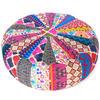 "Round Bohemian Ottoman Pouf Pouffe Cover Boho Colorful Floor Seating - 20"" 1"