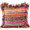 Yellow Chindi Decorative Throw Pillow Couch Cushion Boho Rag Rug Bohemian Cover - 20""