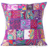 Purple Patchwork Decorative Boho Bohemian Pillow Couch Cushion Throw Cover - 20""