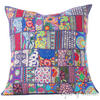 Blue Colorful Patchwork Decorative Sofa Bohemian Boho Throw Couch Pillow Cushion Cover - 28""