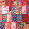 "Red Colorful Decorative Floor Cushion Throw Bohemian Boho Patchwork Sofa Couch Pillow Cover - 28"" 2"