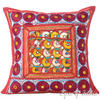 """Burgundy Red Rajkoti Patchwork Colorful Decorative Sofa Throw Couch Pillow Bohemian Cushion Cover - 16"""""""