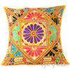 Large Yellow Decorative Throw Pillow Couch Cushion Cover Indian Bohemian Decorative - 24""