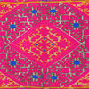 """Pink Embroidered Swati Bolster Long Lumbar Colorful Decorative Sofa Couch Pillow Cushion Cover - 14 X 32"""" 2"""