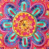 """Pink Orange Blue Embroidered Colorful Decorative Boho Throw Pillow Bohemian Couch Sofa Cushion Cover - 16"""" 2"""