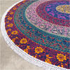 "Blue Roundie Beach Mat Boho Bohemian Picnic Mandala Hippie Tapestry Throw - 72"" 4"