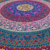 "Blue Roundie Beach Mat Boho Bohemian Picnic Mandala Hippie Tapestry Throw - 72"" 5"