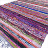Blue Woven Colorful Chindi Bohemian Boho Decorative Area Rag Rug - 3 X 5 ft