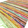 Green Colorful Woven Chindi Boho Bohemian Area Rag Rug Decorative - 3 X 5 ft 2